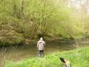 La zone de pêche sur le Bocq à l'arrière du gîte